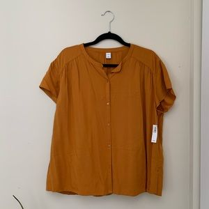 Old Navy Mustard Yellow Button Top